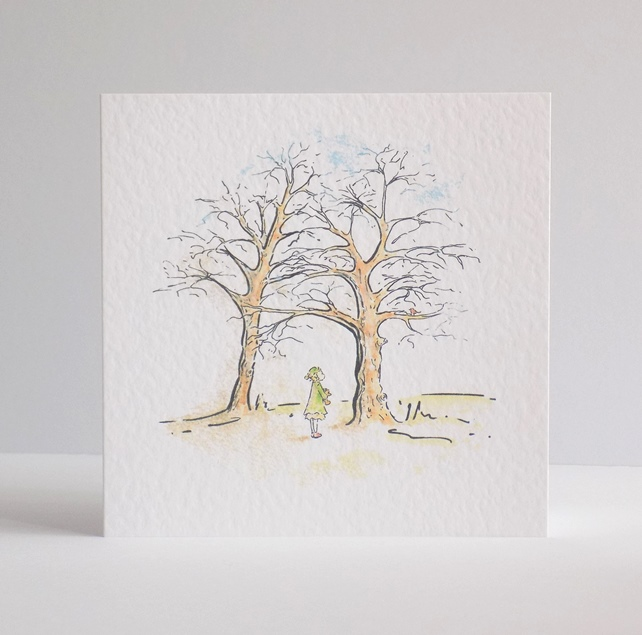Robin Blank Greeting Card