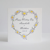 Personalised Wedding Daisy Chain Card