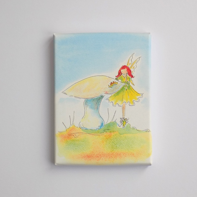 Mini Canvas Print  'Fairy Toadstool'