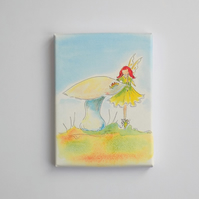 Mini Canvas Box Print  'Fairy Toadstool'
