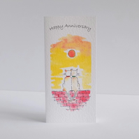 Anniversary Card   Sunset cats