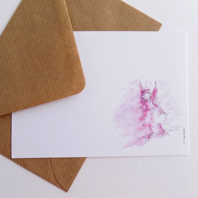 Pink Fairy Postcards (pack of 6)