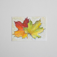 Original Watercolour ACEO 'Autumn Hues'