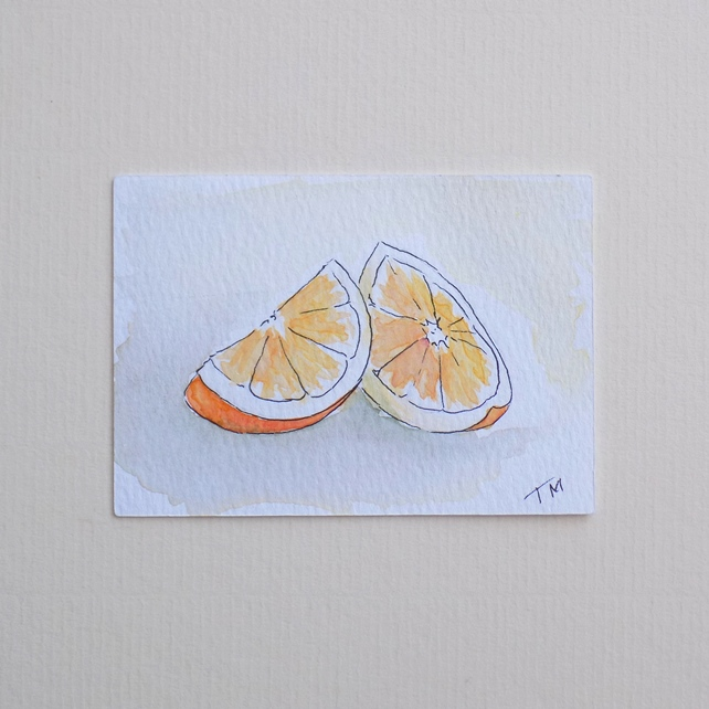 Original Watercolour ACEO - 'Orange'