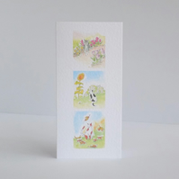 Cat Seasons Blank Card