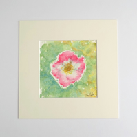 Original Watercolour Painting 'Wild Rose'