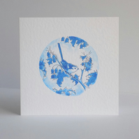 Blue Bird Blank Card