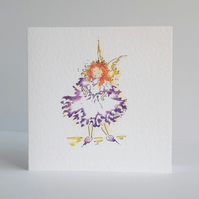 Purple Fairy Blank Card