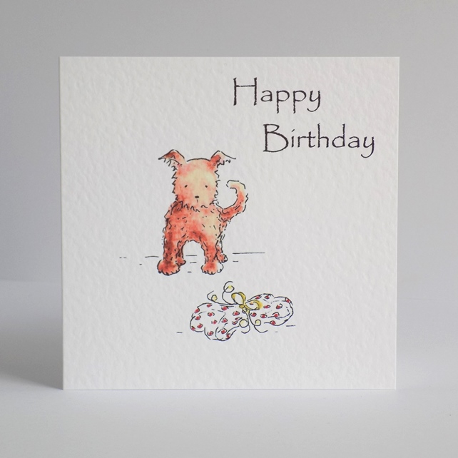Birthday Card 'Present for puppy'