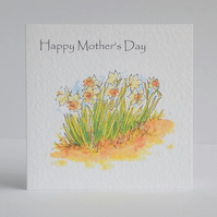 Mother's Day Card Daffodil's