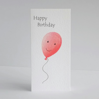 Birthday Card  Smiley Balloon