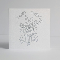 Birthday Card  Colour Your Own Fairy