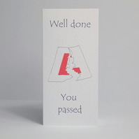 Driving Test Well Done Card