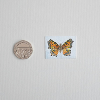 Miniature Watercolour Painting 'Small Tortoiseshell butterfly'