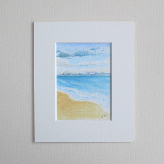 Original Watercolour ACEO 'Summer' with mount