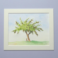 Original Watercolour Painting 'Plum tree'