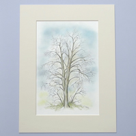 Original Watercolour Illustration 'Winter Chestnut Tree'