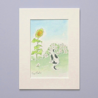 Original Illustration 'Summer Cat'