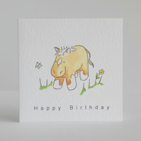 Birthday Card  Pony