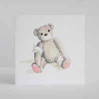 Feel Better Soon Teddy Card