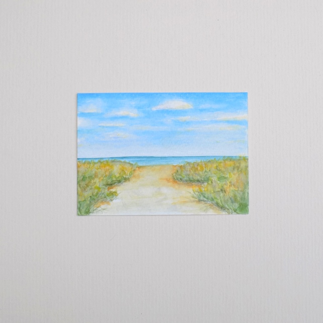 Original Watercolour ACEO  'Sea View'
