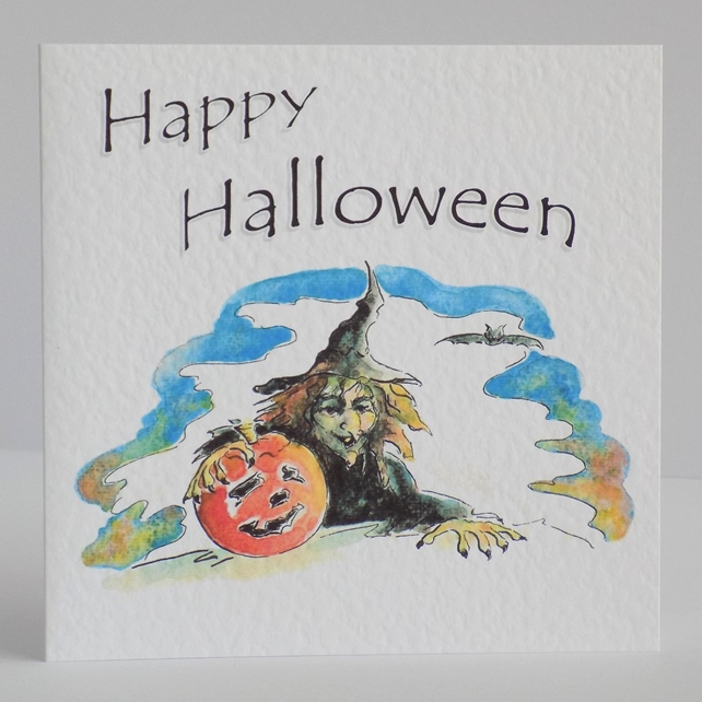 Halloween card 'Witch'