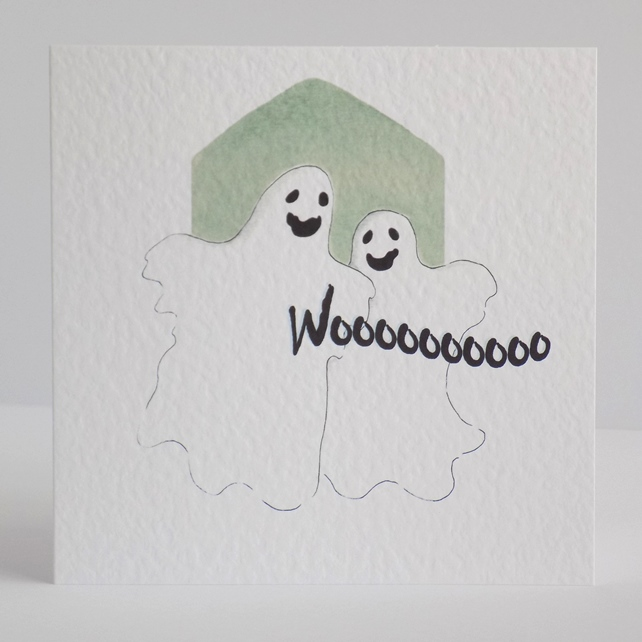 Halloween Card Ghosts