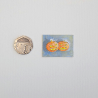 Halloween Watercolour Miniature Painting 'Pumpkins'