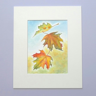 Original Watercolour Painting 'Autumn Fall'