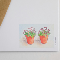 Flower Pot Postcards (pack of 6)