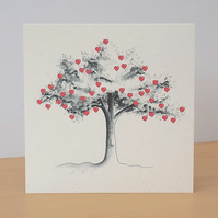 Eco Friendly Card Heart Tree