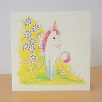 Unicorn Eco Friendly Blank Card