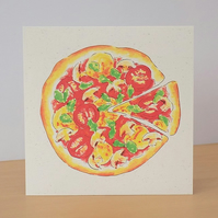 Veggie Pizza Blank Eco Friendly Card