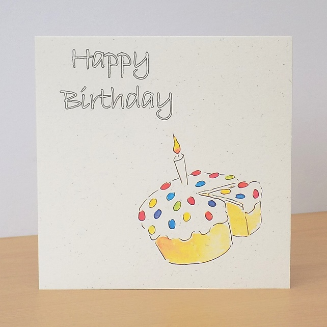 Eco Friendly Birthday Card - Personalised option available
