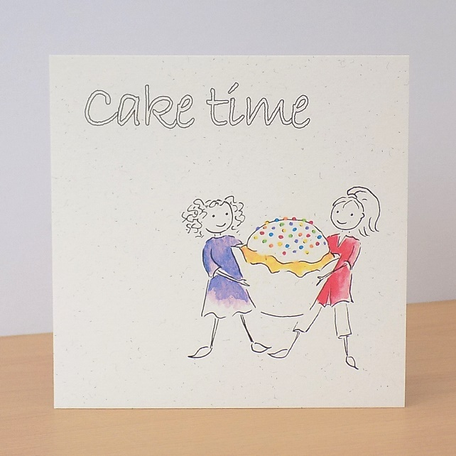 Eco Friendly Card Cake Time