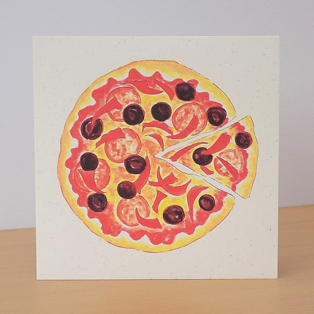 Pizza Eco Friendly Card