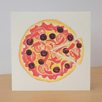 Eco Friendly Card Pizza