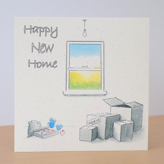 Eco Friendly Card New Home - Personalised option available