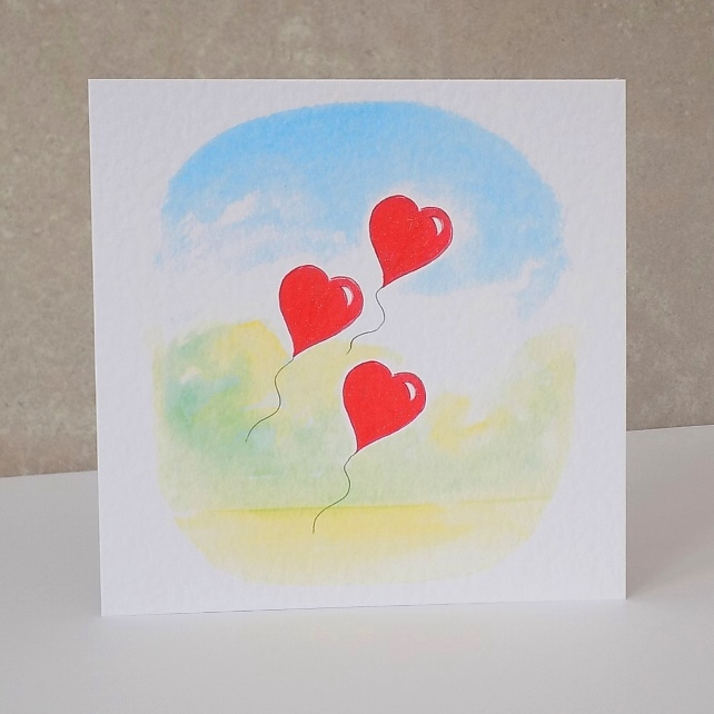 Heart Balloon card