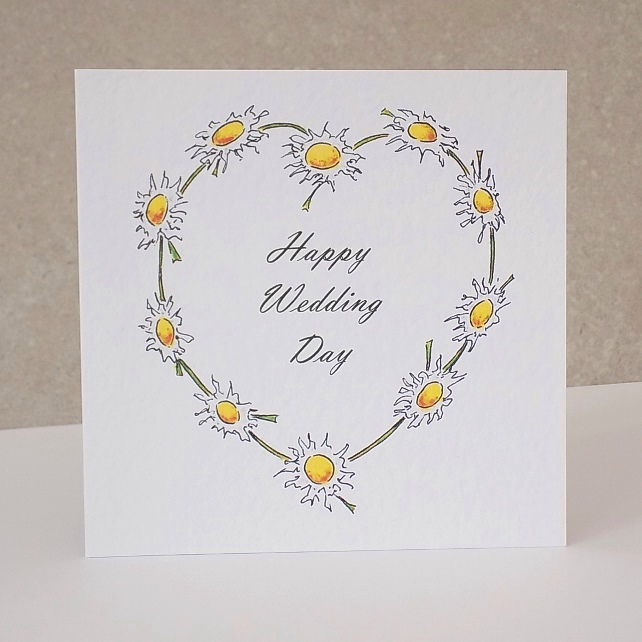 Wedding Card  Daisy Chain