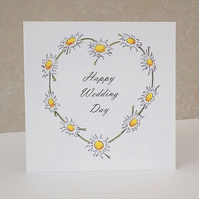 Wedding Card  Daisy Chain  -  Personalised option available