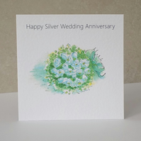 Silver Wedding Anniversary Card