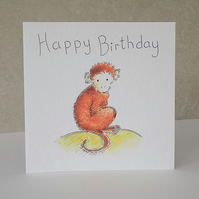 SALE    Birthday Card  'Monkey'