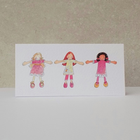 Birthday card - 'Pink Dollies'
