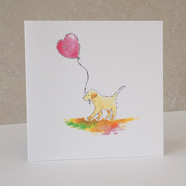 Blank Card   Heart Balloon