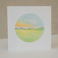 Countryside View Blank Card