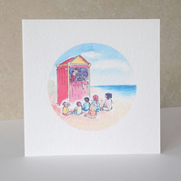 Punch and Judy Blank Greeting Card