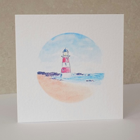 Lighthouse Blank Greeting Card