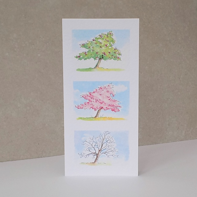 Cherry Tree - blank card