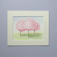Original Watercolour Painting 'Blossom Trees'